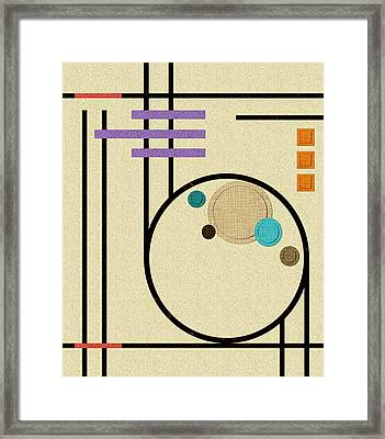 Graphics In The Sand Framed Print by Tara Hutton