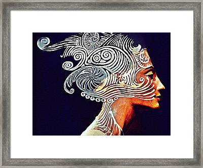 Graphism For Nefertiti Framed Print by Paulo Zerbato
