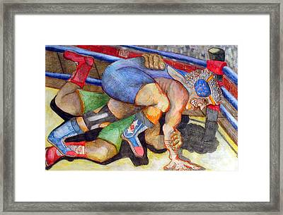 Grapple Framed Print by Jame Hayes