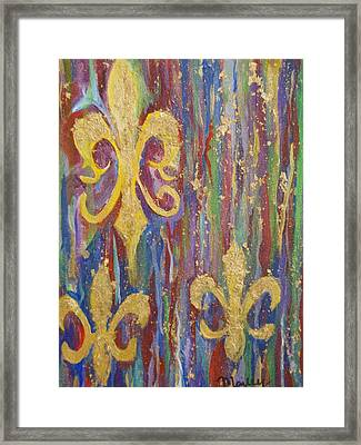 Gras De Lis Framed Print by Made by Marley