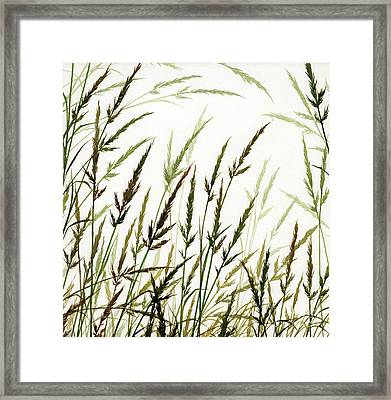 Framed Print featuring the painting Grass Design by James Williamson