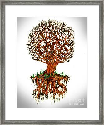 Grass Roots Framed Print