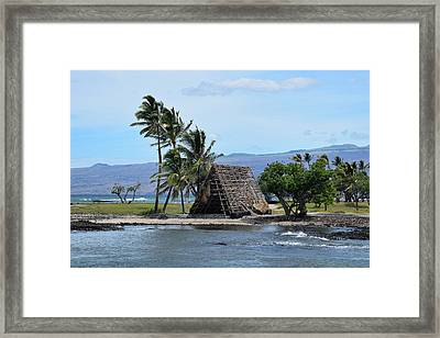 Framed Print featuring the photograph Grass Shack by Pamela Walton
