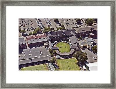 Grass Tennis Hall Of Fame 194 Bellevue Ave Newport Ri 02840 3586 Framed Print by Duncan Pearson