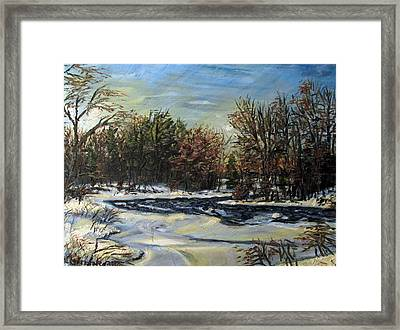 Grasse River In January Framed Print