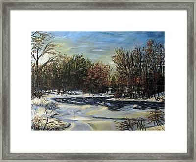 Grasse River In January Framed Print by Denny Morreale