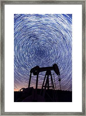 Grasshopper Star Trail Framed Print