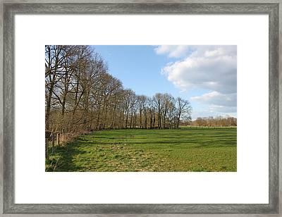 Grassland Belgium Framed Print by Stijn Claessen