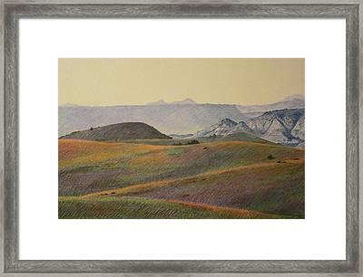 Grasslands Badlands Panel 2 Framed Print