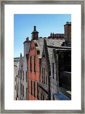 Framed Print featuring the photograph Grassmarket In Edinburgh, Scotland by Jeremy Lavender Photography