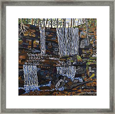 Grassy Creek Falls Framed Print by Micah Mullen