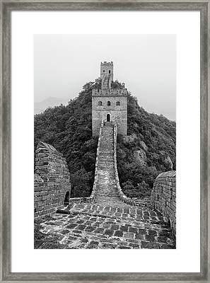 Framed Print featuring the photograph Great Wall 1, Jinshanling, 2016 by Hitendra SINKAR