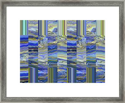 Grate Art - Blue And Green Images - Manipulated Photography Framed Print