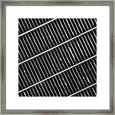 Grate Framed Print by KM Corcoran