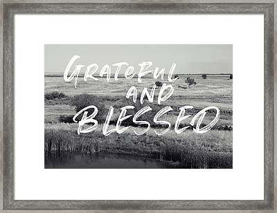 Grateful And Blessed- Art By Linda Woods Framed Print