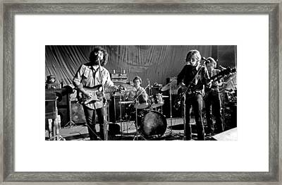 Grateful Dead In Concert - San Francisco 1969 Framed Print by Dan Haraga