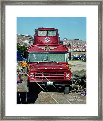 Grateful Dead Tour Bus Framed Print by Chuck Spang