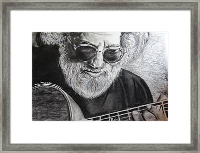Framed Print featuring the drawing  Grateful Dude by Eric Dee