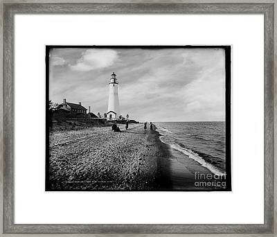 Gratiot Light Circa 1900 Framed Print
