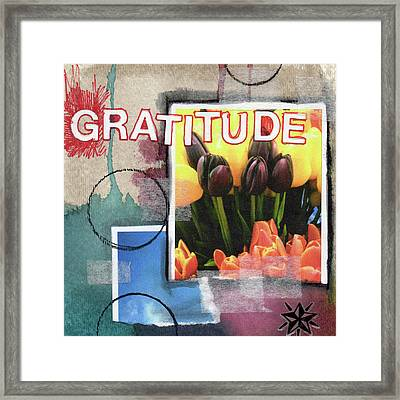 Gratitude- Art By Linda Woods Framed Print by Linda Woods