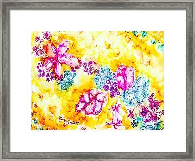 Gratitude Blooms Framed Print