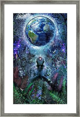 Gratitude For The Earth And Sky Framed Print by Cameron Gray