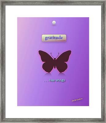Gratitude Has Wings Framed Print by Jack Eadon