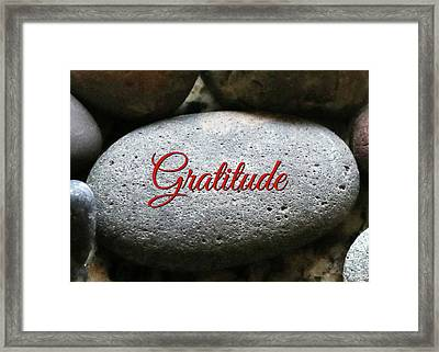 Gratitude Framed Print by Stephanie Laird