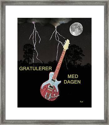 Gratulerer Med Dagen Framed Print