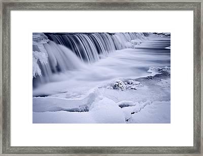 Graue Mills Falls Framed Print by Steve Gadomski