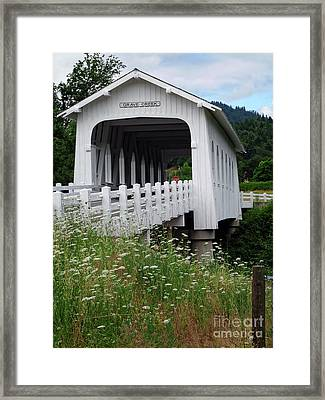 Grave Creek Bridge Framed Print by Methune Hively