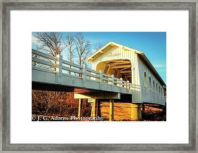 Grave Creek Covered Bridge Framed Print