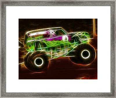 Grave Digger Monster Truck Framed Print