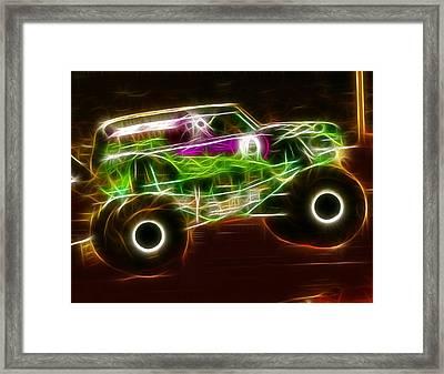Grave Digger Monster Truck Framed Print by Paul Van Scott