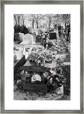 Grave Of Edith Piaf  Framed Print