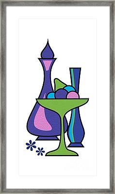 Gravel Art Fruit Compote Framed Print