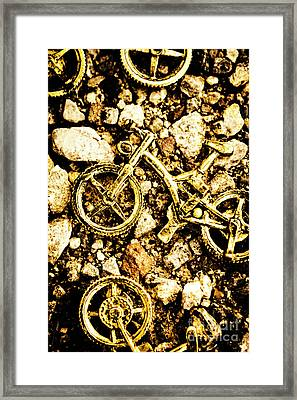 Gravel Bikes Framed Print by Jorgo Photography - Wall Art Gallery