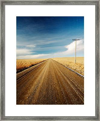 Gravel Lines Framed Print