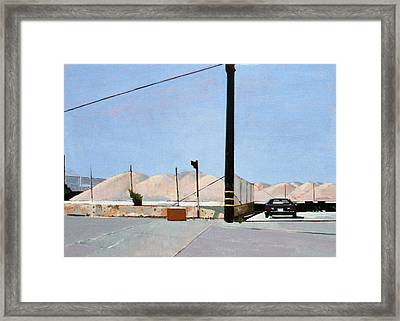 Gravel Piles Downtown La Framed Print