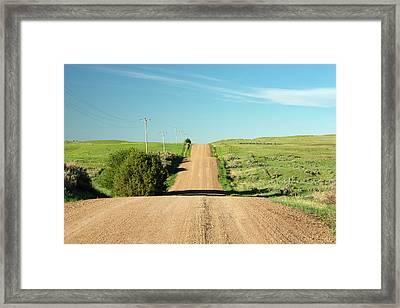 Gravel Rock Road Framed Print by Todd Klassy