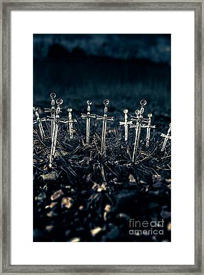 Gravely Battlefield Framed Print