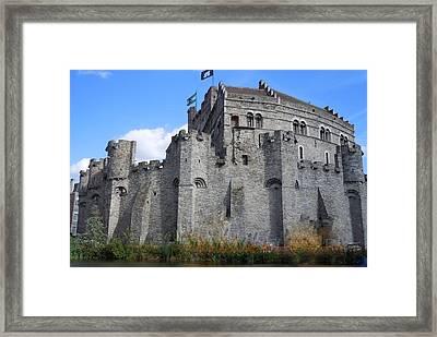 Gravensteen Castle Gent Belgium Framed Print by Marilyn Dunlap
