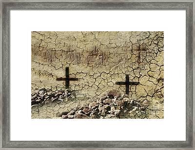Graves At Tumacecori Framed Print by Bob Christopher
