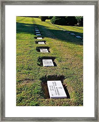 Graves In Formation Framed Print by E Robert Dee