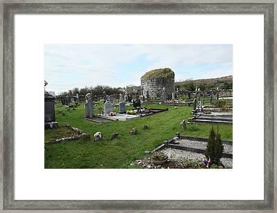 Framed Print featuring the photograph Graveyard Antigua Iglesia De Killinaboy Ireland by Marie Leslie