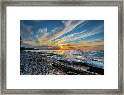Graveyard Coast Sunset Framed Print