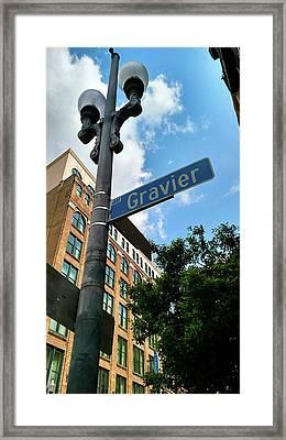 Gravier Street  Framed Print