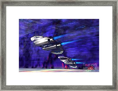 Gravitational Forces Framed Print by Corey Ford