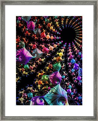 Framed Print featuring the digital art Gravitational Pull by Kathy Kelly