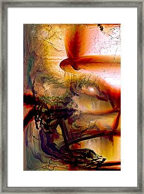 Gravity Of Love Framed Print by Linda Sannuti